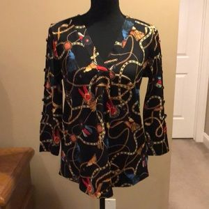 89th+Madison 3/4 Cold Sleeved Top/NWT